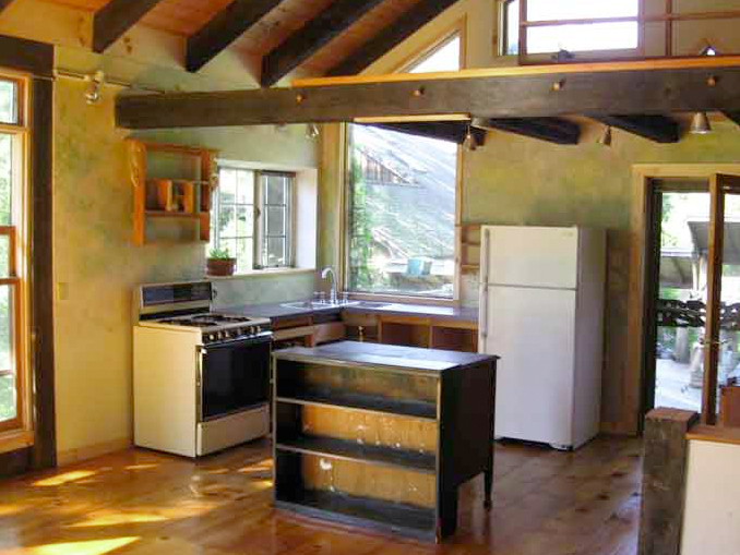 Rustic Cabin Kitchen Design - Before
