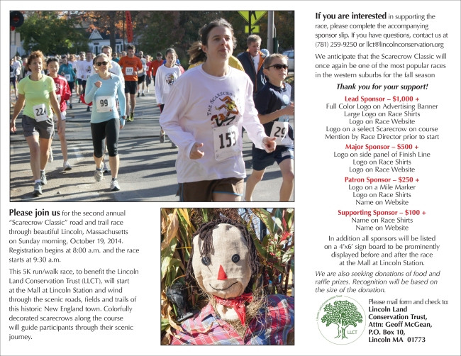 2014 LLCT Scarecrow Classic 5K Brochure v3-2