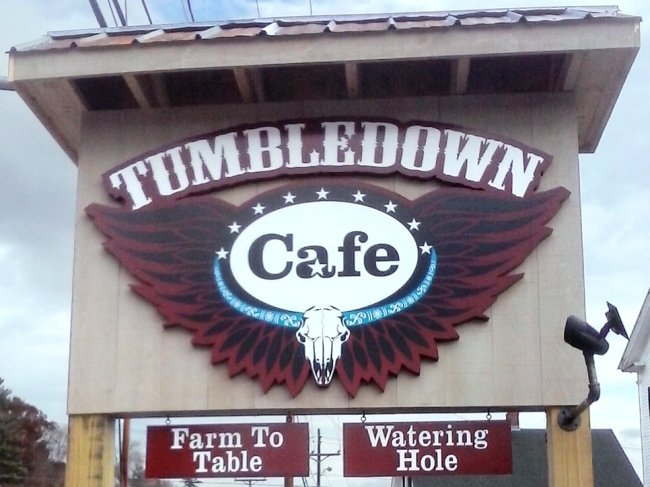 Tumbledown-Cafe Sign