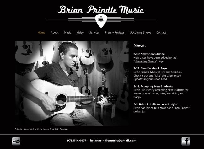 Brian Prindle Music Site
