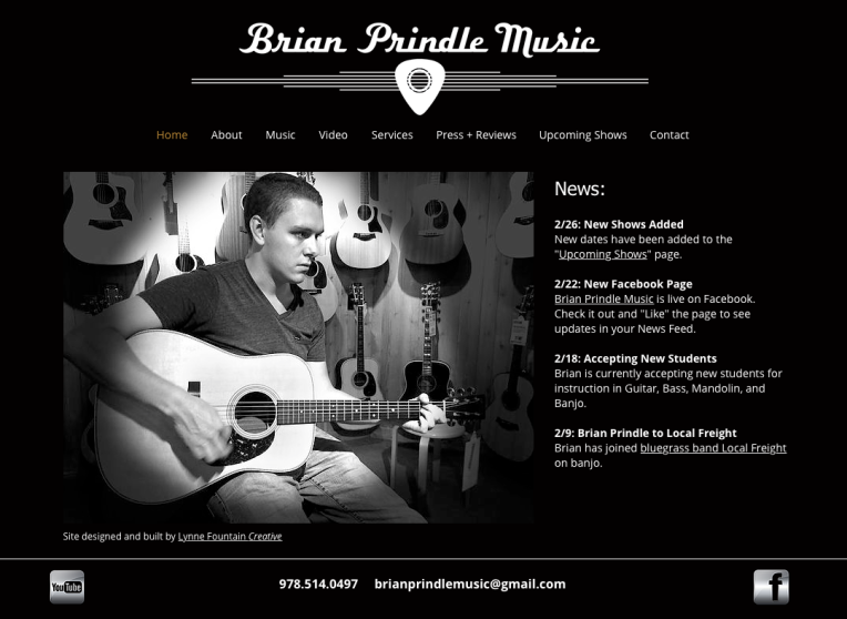 Brian Prindle Music Site